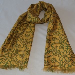 NWT! SILK Embroidered Scarf; Gift for Her